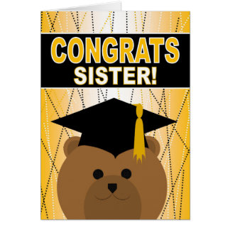 Graduation Congratulations for a Sister Card