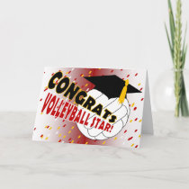 Graduation Congratulations for a Volleyball Star Card