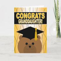 Graduation Congratulations for Granddaughter Card