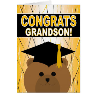 Graduation Congratulations for Grandson Card