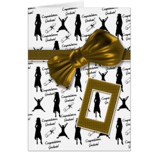 Graduation congratulations for women PHOTO insert Greeting Card