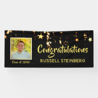 Graduation Congratulations | Gold Stars | Photo Banner