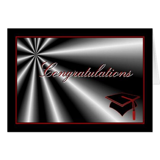 Graduation congratulations graduation cap diploma card