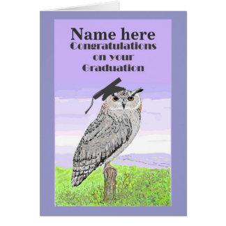 Graduation Congratulations Owl Card