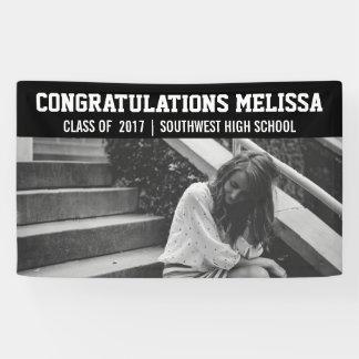 Graduation Congratulations Photo Black Banner