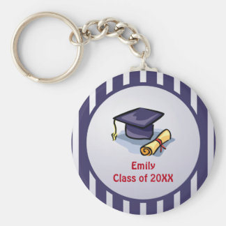Graduation Congratulations Remember the Past Basic Round Button Keychain