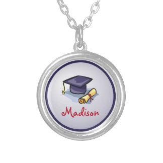 Graduation Congratulations Remember the Past Round Pendant Necklace