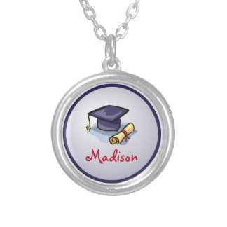 Graduation Congratulations Remember the Past Silver Plated Necklace