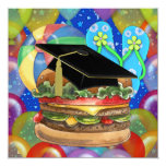 Graduation Cook Out / Party - SRF 5.25x5.25 Square Paper Invitation Card