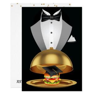 Graduation cookout invitations announcements zazzle graduation cookout tuxedo hamburger invitation filmwisefo