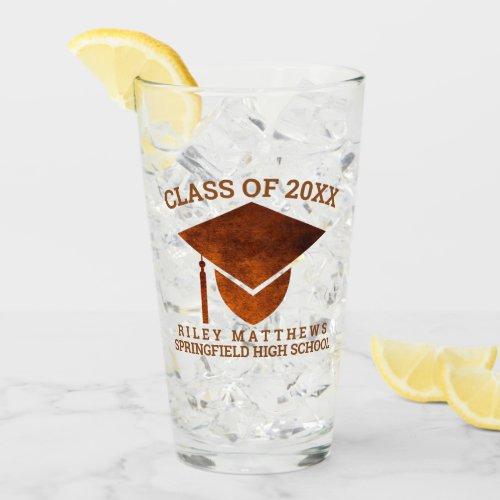 Graduation Copper Cool High School College Glass