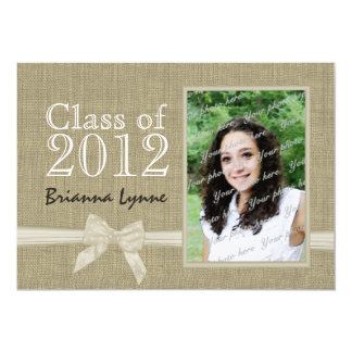 Graduation Country Sweetheart Photo 5x7 Paper Invitation Card