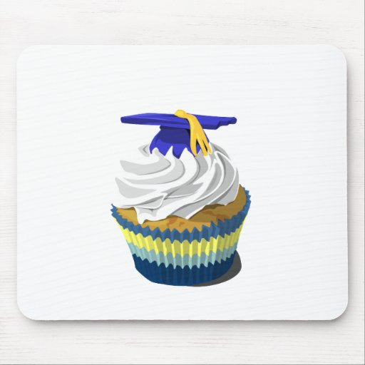 Graduation cupcake mouse pads