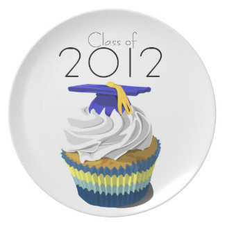 Graduation cupcake plate