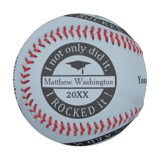 Graduation custom name & year baseball