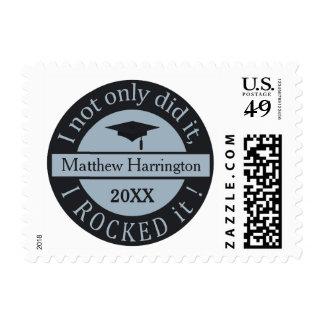 Graduation custom name & year postage stamps