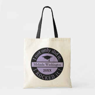 Graduation custom name & year tote bags