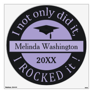 Graduation custom name & year wall decals
