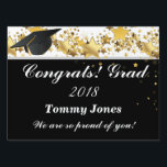 "Graduation Custom Party Yard Sign-Medium Size Lawn Sign<br><div class=""desc"">Yard sign perfect for your graduation party for the grad in your life. Customize this item, change the name to yours.