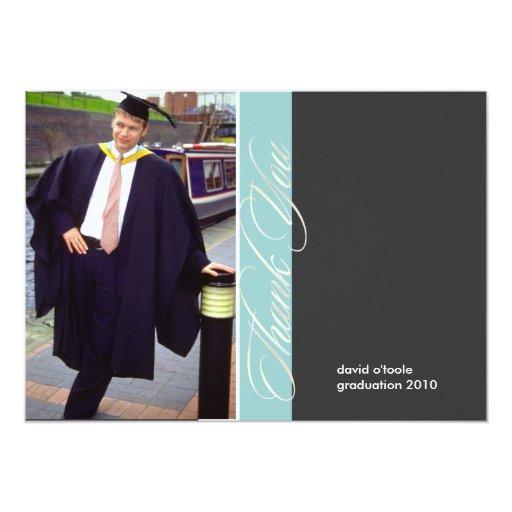 "Graduation, Custom Thank You Cards, Flat 5"" X 7"" Invitation Card"