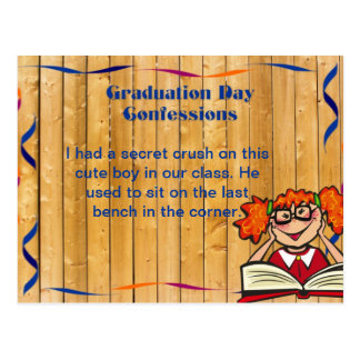 Graduation Day confessions customize with text Postcard