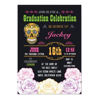 Graduation Day of the Dead Sugar Skull Invitation