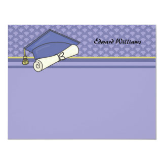 Graduation Day Personalized Thank You / Notecard 4.25x5.5 Paper Invitation Card