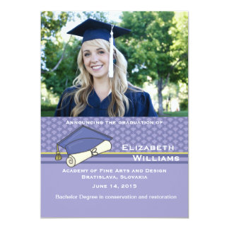 "Graduation Day Photo Announcement 5"" X 7"" Invitation Card"