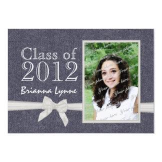 Graduation Denim Sweetheart Photo Card
