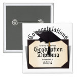 Graduation Diploma Button