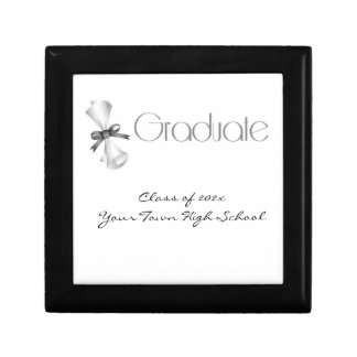 Graduation Diploma Gray Jewelry Box