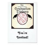 "Graduation Diploma Photo Frame 5"" X 7"" Invitation Card"