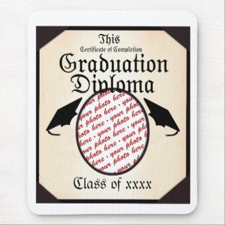 Graduation Diploma Photo Frame Mouse Pad
