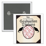 Graduation Diploma Photo Frame Pin