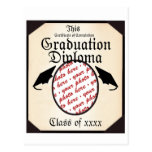 Graduation Diploma Photo Frame Postcard
