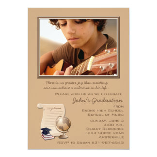 Graduation Diploma Photo Invitation