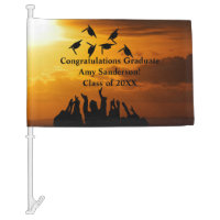 Graduation Drive By Parade Decor Congratulations Car Flag