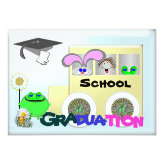 Graduation elementary school 5x7 paper invitation card