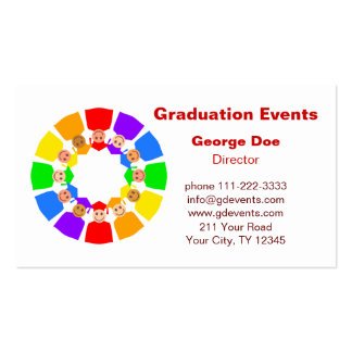 Graduation Events Business Card