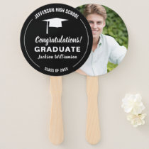 Graduation Fan Your School Color Graduate Photo