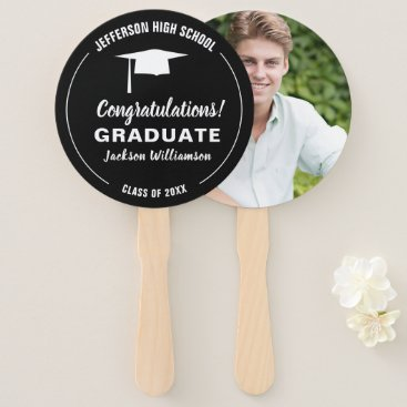 Professional Business Graduation Fan Your School Color Graduate Photo
