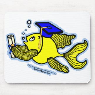 Graduation Fish Graduate Mouse Pad