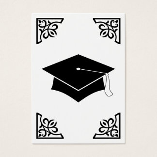 graduation flourish business card