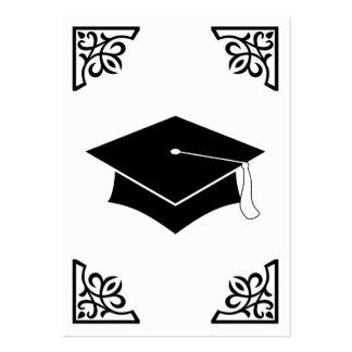 graduation flourish large business card