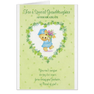 Graduation-For a Special Granddaughter Greeting Cards