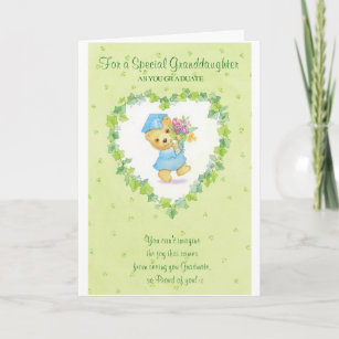 Graduation cards zazzle graduation for a special granddaughter card m4hsunfo