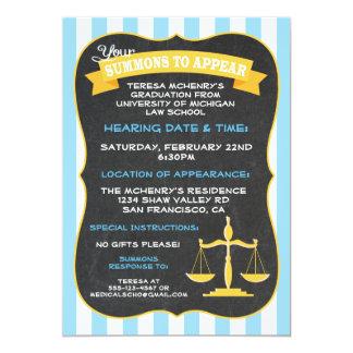 Graduation for Law School Invitation Summons