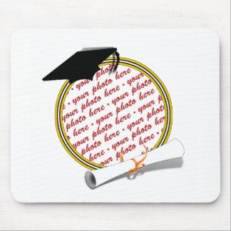 Graduation Frame School Colors  Black & Gold Mouse Pad