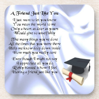 Graduation Friend Poem Coaster