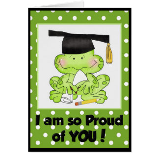 Graduation Frog I am Proud of You Greeting Card